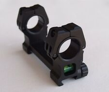 "Rifle Scope Mount 30mm & 1"" Dia. w/ Bubble Level Picatinny Weaver Rail Rings M10"