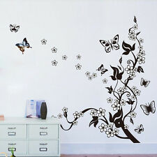 Wall Mural Decal Sticker Butterfly Flowers Tree Wall Sticker Home Decor Vinyl