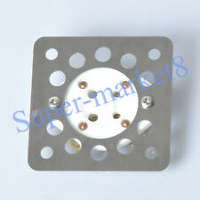 2pcs 4pin Ventilated Steel Mounting Plate Tube Socket Shock Proof 300B 2A3 Amp