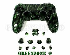 Zombies vert custom PS4 remplacement contrôleur hydro dipped full shell mod kit