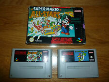 SNES SUPER NINTENDO NES SUPER MARIO ALL STARS AND SUPER MARIO WORLD