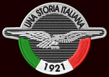 "MOTO GUZZI UNA STORIA EMBROIDERED PATCH~4""x 2-3/4"" MOTORCYCLE CALIFORNIA LE MANS"