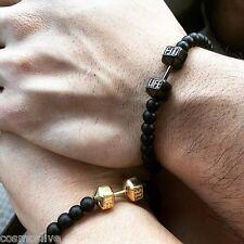 Alloy Metal Fitness Fashion Dumbbell Bracelets For Men & Women Gym Bracelet