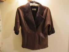 FABULOUS CROMBIE DESIGNER LAMBS LEATHER JACKET BNWOT SIZE M/L TO CHEST 44 INCHES