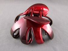 octopus hair clip Dk Red Black ombre metallic Big barrette claw clamp spider