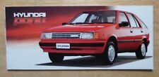 HYUNDAI PONY 1988 UK inchiostri PICCOLO FORMATO 20 pagine BROCHURE DI VENDITA