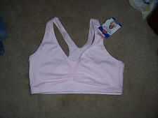 NWT Womens HANES Racerback Sports Bra Pink Size Large Style G574