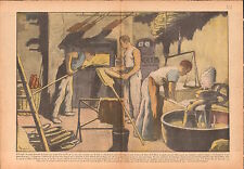 Bakery Fournil Boulangers Carême Boulangerie Four breads Pains 1937 ILLUSTRATION