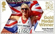 UK ParalympicsGB Gold Medal Winner Single Stamp - Josie Pearson MNH 2012