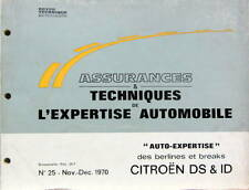 1970-11 CITROEN DS ET ID   CATALOGUE DE PIECES AUTO EXPERTISE POUR ASSURANCES