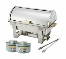 Winco Roll-Top Chafer, Gold Accent,Stainless Chafing Dish Set
