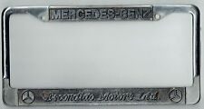 Escondido Motors Ltd California Mercedes Benz Vintage Dealer License Plate Frame
