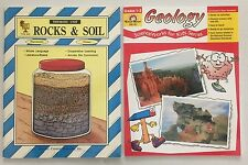Lot 2 Rocks Soil Geology Teaching Books Grade 1-3 Ideas Activities Reproducible