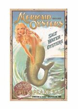 Ohio Wholesale Mermaid Advertising Tin Metal Sign Wall Art Home Bar Shop Decor