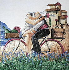 Cross Stitch Kit ~ Design Works Just Married Happy Countryside Couple #DW2747