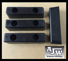 "4 Rubber Buffer 8"" x 2"" 200mm Truck Trailer Horsebox Tailboard HGV Bumper Boat"