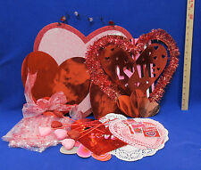 Valentines Day Heart Wall Decor Decorations Gift Tags Gift Bag & Bow Lot of 28