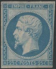 "FRANCE STAMP TIMBRE N° 15 "" NAPOLEON III 25c BLEU 1853 "" NEUF x  A VOIR K021"