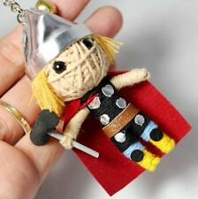 THOR DEITY KEY CHAIN VOODOO KEYRING HAMMER DOLL STRING HANDMADE SUPERHERO CRAFT
