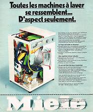 PUBLICITE ADVERTISING 015  1975  MIELE  lave linge machine à laver