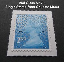 NEW 2017 2nd Class M17L Code Machin SINGLE STAMP from Counter Sheet MINT