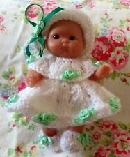 *KNITTING PATTERN* FOR 5 INCH BERENGUER OR SIMILAR DOLL USES DOUBLE KNIT WOOL.