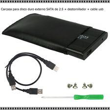 Caja para disco duro externo SATA de 2.5 + destornillador + cable usb tornillos