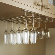 Shelf Hanging Wine Champagne Glass Rack Holders Under Cabinet Bar Stemware NEW
