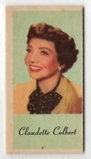 American Peerless Weighing Weight Machine Card US Actress Claudette Colbert