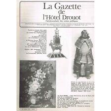 La GAZETTE de l'Hôtel DROUOT 1983 N°34 Armure Presse-Papier POUPÉE Affiche Ciné