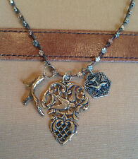"""Love Heals SPECIAL PRICE (C) 24"""" 2-Tone Daisy Strand w/3 Charms NEW ret $187"""