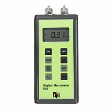 TPI 635 Dual Input Manometer, 7 selectable units of measure, 5 psi