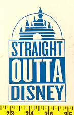 Straight Outta Disney Castle Vinyl Sticker Car Window Laptop Decal Princess