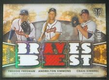 2015 Topps Triple Threads Freddie Freeman Andrelton Simmons Kimbrel Relic /36