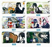 Japanese Anime Black Butler Pencil Cosmetic Pouch 1 Piece Only 9cmX19cm K-hzs514