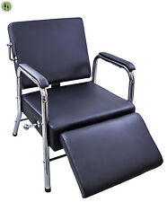 Reclining Shampoo Spa Chair Black + Salon Equipment + Waiting Chair