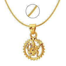 Mahi Exa Collection Hanuman Religious God Pendant with Chain PS6012008G