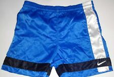 VINTAGE MEN'S NIKE NYLON SATIN BLUE SHORTS SMALL