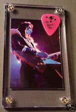 LOOK - Nice Ace Frehley powder pink tour guitar pick / Alive card #40 display!