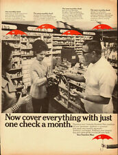 1967 Vintage ad for Your Travelers Man Insurance/60's Fashion/Pharmacy (041813)