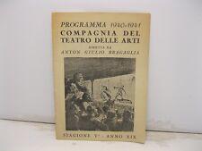 Compagnia del teatro delle arti diretta da Anton Giulio Bragaglia