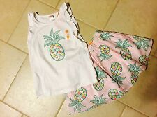 *NWT* GYMBOREE GIRLS SIZE 8 ISLAND CRUISE PINEAPPLE TANK TOP N SKIRT OUTFIT SET