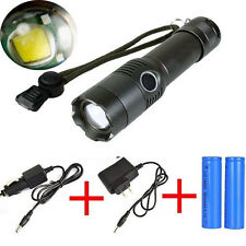 Tactical 4000 Lumen Zoomable CREE XML T6 LED 18650 Flashlight Focus Torch Lamp
