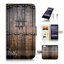 SONY Xperia ( Z5 Compact ) Flip Wallet Case Cover P0796 Old Door