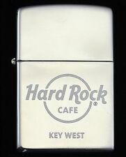 HARD ROCK CAFE KEY WEST HIGH POLISH CHROME ZIPPO LIGHTER NOS w/ TIN 2004 BIN