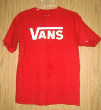 Vans Logo Red T-Shirt size - M - YOUNG PERSON SIZE ---SEE MEASUREMENTS