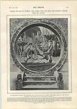 1905 Kwemie Women Arakan Mandalay Carving Record Office Treasures