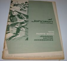 Parts Catalog Johnson Sea Horse Motor Ersatzteilkatalog Accessories Stand 1970!