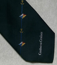 CANBERRA CRUISES TIE VINTAGE RETRO 1990s COMPANY CORPORATE NAUTICAL SAILING