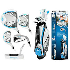 LADIES LEFT HAND COMPLETE GOLF SET wDRIVER+3 WOOD+HYBRIDS+6-PW IRONS+BAG+PUTTER